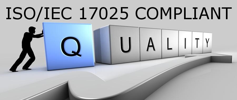 ISO/IEC 17025 COMPLIANT